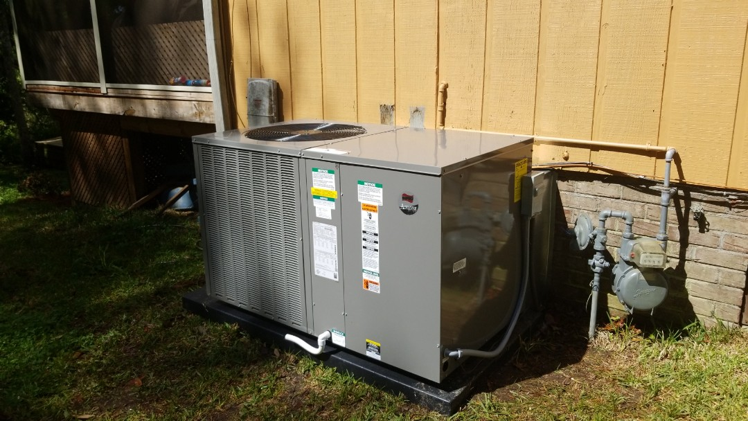 Summerville, SC - Ruud heatpump package unit change out in Kings Grant