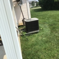 Springfield, OH - Performed our Spring Special AC Tune-up and Safety Checkout and found the outdoor condenser coil dirty and restricting airflow. Cleaned off the coil and system is cooling as expected.