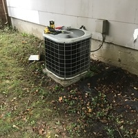 Yellow Springs, OH - 24 Hour Residential Heating and Cooling Services. Air Conditioning System examined and found refrigerant levels extremely low. Repair options given to customer but also provided free estimate to replace with a 13 SEER Carrier System.