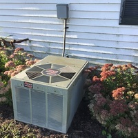 Jamestown, OH - Free quote provided to install a Ruud Air Conditioner with a Carrier 13 SEER 2.5 Ton Air Conditioner. Included a one year service maintenance agreement for the furnace and A/C.