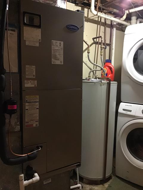 Miamisburg, OH - Customer received a brand new Carrier Electric Furnace and Air Conditioner to replace their old system to keep the home warm in the winter months and cool in the summer months. Pictured is the brand new furnace that our talented technician installed for the customer.