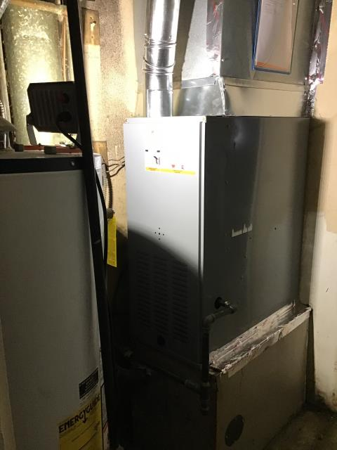 Dayton, OH - Customer received a brand new Five Star Gas Furnace  to replace their old system to keep the home warm in the winter months.  Pictured is the brand new furnace that was installed by our talented technician.