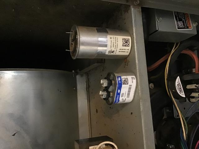 Dayton, OH - Replaced two capacitors on a Lennox furnace. The system is now operating properly and is ready to heat this winter season.