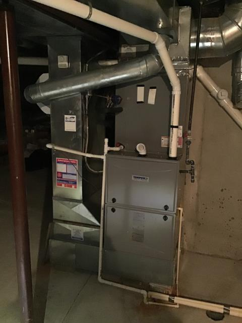 Centerville, OH - Running new flu pipe, replacing 90% Condensate Furnace Trap, 	 replacing Warranty Collector Box for Customer.