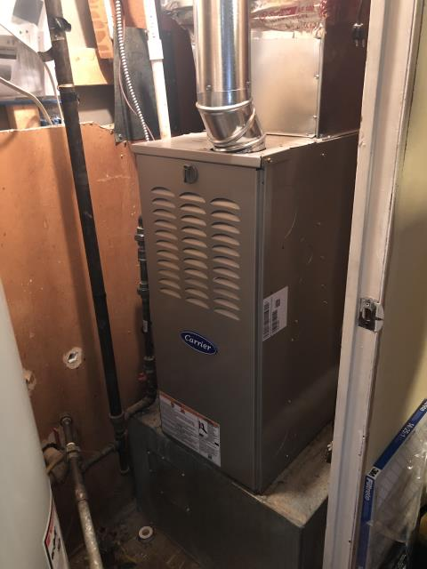 Beavercreek, OH - Performed Our Special Tune-Up & Safety Checkout On a Carrier Gas Furnace To Keep Furnace Running At Highest Performance For The Winter Season
