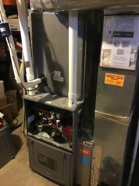Fairborn, OH - Furnace Tune Up & Safety check being performed on a Rheem furnace unit.
