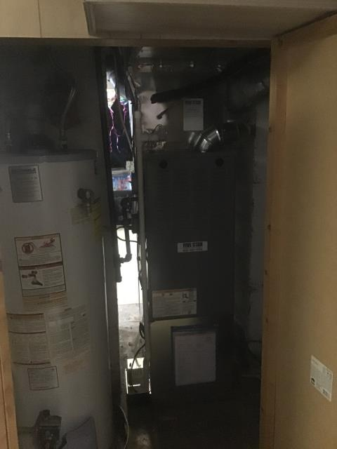 Dayton, OH - Removing Customers previous equipment. Installing  Five Star 80% 70,000 BTU Gas Furnace &  Five Star up to 13 SEER 2 Ton Air Conditioner.