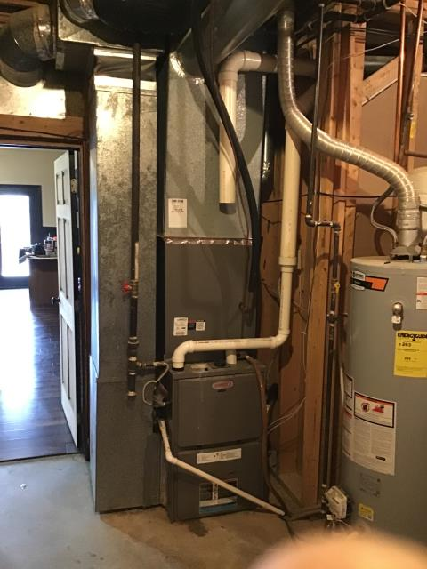 Xenia, OH - Upon arrival I Removed the inducer motor and drained water out of the system. Reinstalled motor and restarted system. System is now operational and heating the house.