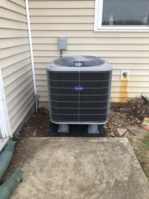 Cedarville, OH - 	 Upon arrival I found system low on charge. System freezing up upon start up talked to install manager, he stated we will come back out here Monday morning to rerun line set pull vacuum and add the charge to spec. Informed customer we will be moving system away from the wall more to make more accessible to operate on