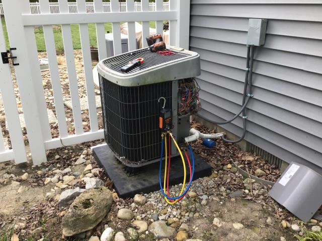 Jamestown, OH - I Performed a Tune Up & Safety Check on a 2019 Carrier Air Conditioner unit. The system is ready for the season.