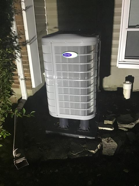 "Miamisburg, OH - I Performed a Tune Up & Safety Check on a  Carrier ""Infinity Series"" 18 SEER Variable-Speed 3 Ton Heat Pump unit. The system is ready for the season."