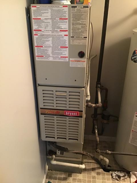Wilmington, OH - Customer advised air-conditioning was no longer cooling the residence, further stated they have lived there over a year and have not been able to locate the furnace filter. Located filters for customer and removed them. I Turned unit on at stat indoor blower motor came on, however was extremely noisy, outdoor fan came on as well.