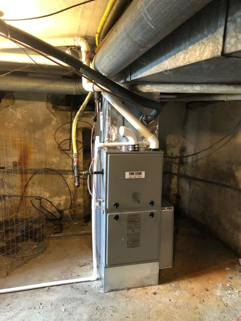 Jamestown, OH - Customer stated that the Rudd Propane furnace did not seem to be heating. Turned unit at stat, system was showing a open pressure switch on board. Reset system and restarted system. Inducer motor needs replaced