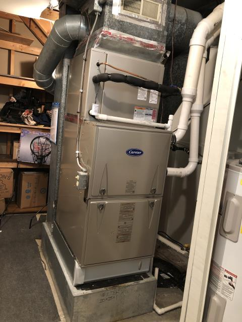 Dayton, OH - I am Performing our Five Star Tune-Up & Safety Check on a 2019 Carrier  Gas Furnace. All readings were within manufacturer's specifications, unit operating properly at this time.