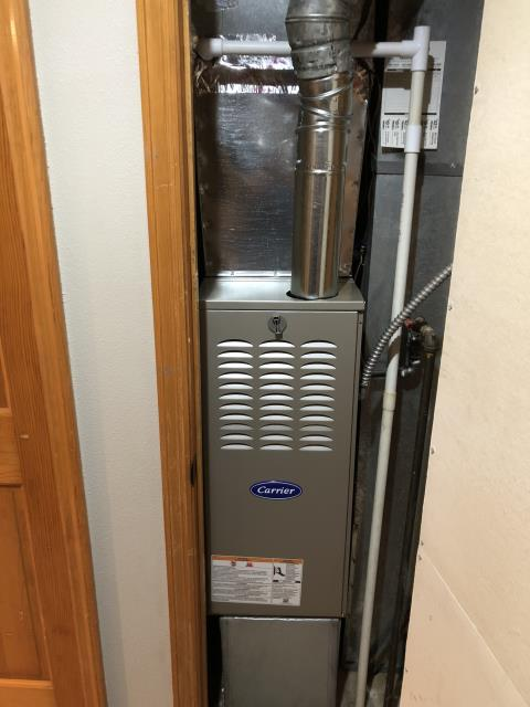 "Centerville, OH - I installed a new  Carrier ""Infinity Series"" 80% 2 Stage Variable Speed 90,000 BTU Gas Furnace"