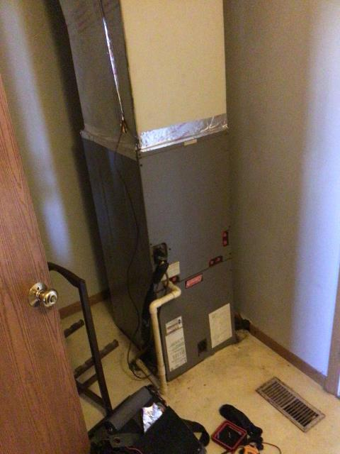 South Charleston, OH - I performed a diagnostic on a 7 year old Coleman electric furnace. I found cause is due from melted wiring & a replay inside the air handler. Discussed options with customer and she has opted to purchase a new system.