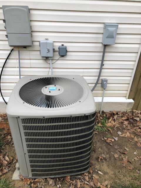 Jamestown, OH - Client informed me he has COVID so the only thing I could check was the furnace which is in the garage and the heat pump and just communicated to client through a phone call. I could not find the problem outside.