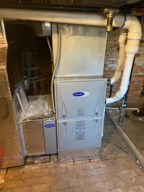 Yellow Springs, OH - I found the heat exchanger had failed. Customer is replacing with home warranty company.