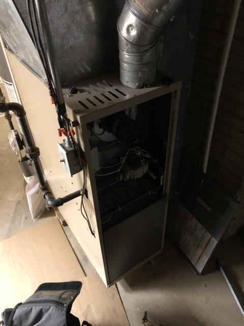 Xenia, OH - Flame sensor testes 2.1. Went ahead and pulled and cleaned, now testing 3.2. Reinstalled furnace door correctly as well as ran a combustion analysis test and tested flame sensor. Did not find any mechanical problems with the furnace door, the door was just incorrectly put on.