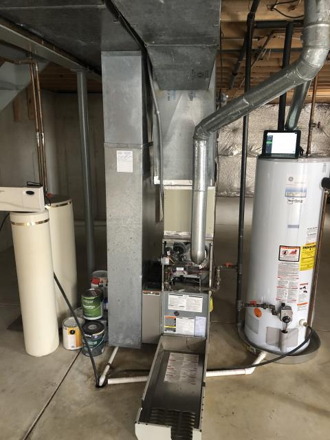 Huber Heights, OH - I gave an estimate to replace a 2002 Bryant Gas Furnace. I recommend replacing it with a Five Star 96% Variable-Speed two-stage Gas Furnace . Included in the estimate is a 1 year free service maintenance agreement.