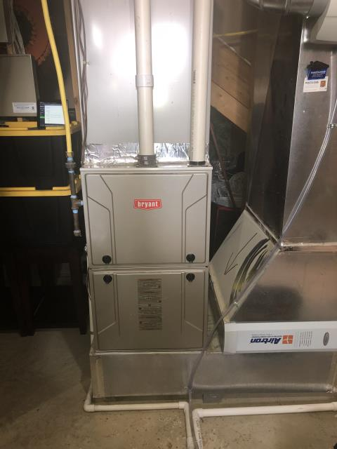Dayton, OH - I removed a Bryant Gas Furnace and Air Conditioner.  I installed a Five Star 96% 100,000 BTU Gas Furnace and Five Star 16 Seer 5 Ton Air Conditioner.  Cycled and monitored the system.  Operating normally at this time.  Included with the installation is a free 1 year service maintenance agreement.