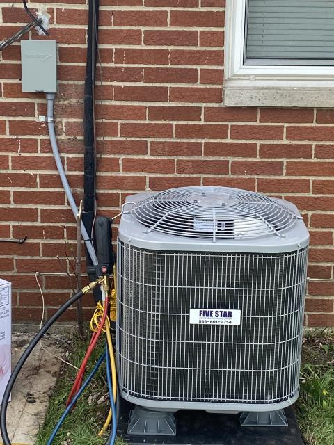 Dayton, OH - I removed a Lennox Air Conditioner. I installed a Five Star 13 SEER 2 Ton Heat Pump.  Cycled and monitored the system.  Operating normally at this time.  Included with the installation is a free 1 year service maintenance agreement.