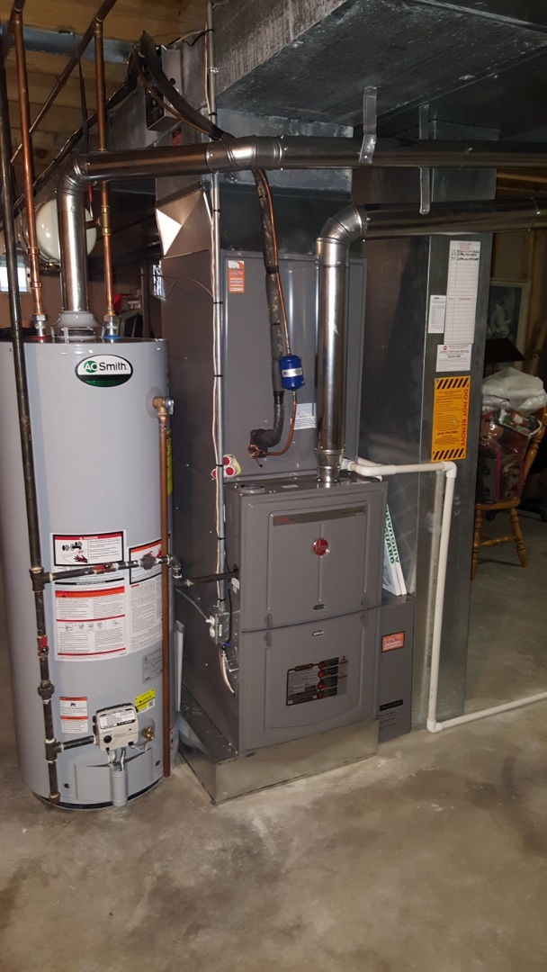 Chesterfield, MO - Chesterfield clean and check furnace humidifier maintenance repair and water heater .