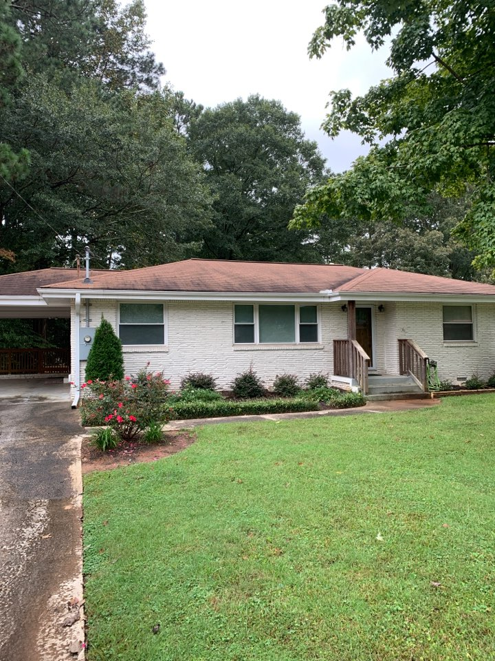 Smyrna, GA - Paint ceiling, clean gutters, support beam, gutter clean and trim tree
