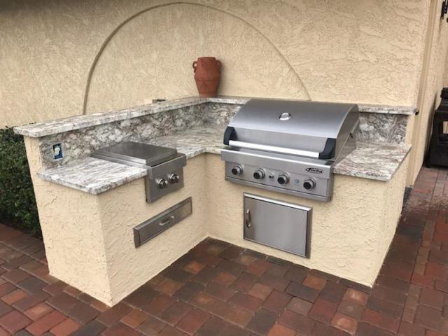 Beaumont, CA - Performed water damage mitigation, mold remediation and built out a new outdoor kitchen.
