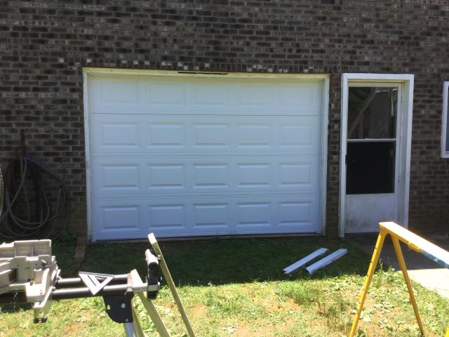 Buford, GA - Installing 10ft by 7ft CHI 2250 garage door.