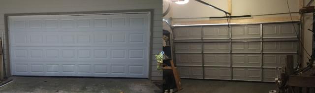 Alpharetta, GA - Installing CHI 2250 16'x7' garage door, white, short panel. Installing LiftMaster 8355W garage door opener. Servicing garage door.