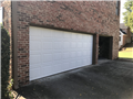 Alpharetta, GA - Installing Wayne Dalton 9100 short panel raised garage door with tracks and trim.