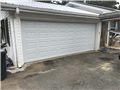 """Dacula, GA - Installing CHI 2250 18'x6'9"""" white garage door. Installing new tracks, torsion springs, and rollers."""