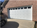 Lawrenceville, GA - Installing 16'x7' glazed, white, CHI 2283 garage door with windows. Installing LiftMaster 8355W garage door motor with 7' belt rail and sensors. Programming remotes and wall button for garage door.