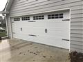 Dacula, GA - Installing 18'x6' CHI 5283 garage door with windows and H-Casing. Installing Liftmaster WLED garage door opener. Installing sensor eyes. Programming two remotes and keypads.
