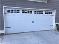 Gainesville, GA - Installing CHI 5250 16'x7' carriage stamp short panel garage door with windows.
