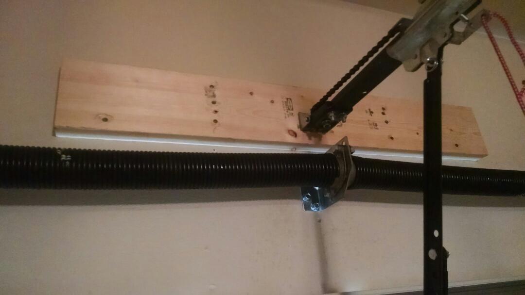 Suwanee, GA - Garage door repair,  opener bracket coming away from the wall simple fix