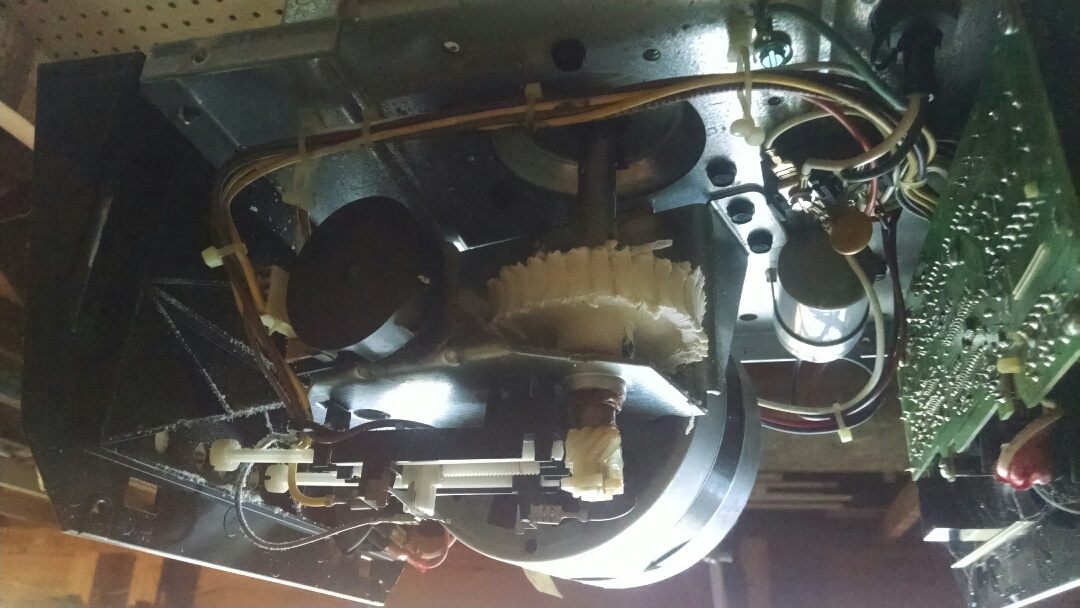 Suwanee, GA - Garage door opener repair, replacing gear and sprocket assembly.