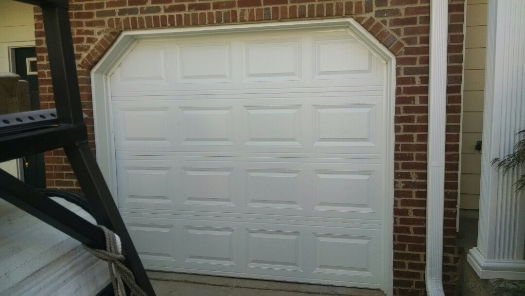 Lawrenceville, GA - Replacing 8x7 steel insulated garage door. CHI 2251 short panel raised door with no windows.