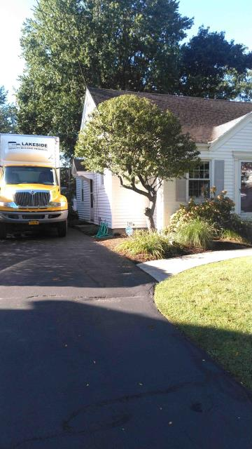 Rochester, NY - Ontario Branch delivery this morning. CertainTeed D4 Encore Horizontal Vinyl Siding  Rochester NY. Color Colonial White.