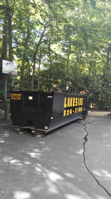 """Pittsford, NY - Brand New 30 yard dumpster just delivered to Pittsford NY customer. Dimensions of our 30 yard boxes are 8' wide x 22' long x 72"""" tall.  You can put a lot of debris in one of these."""