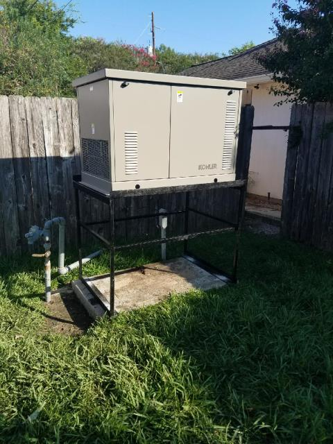 Removed and replaced flooded generator with a dependable Kohler 20/18 KW with a FREE automatic transfer switch.  Elevated generator on a 3 foot rack.  Great job team!