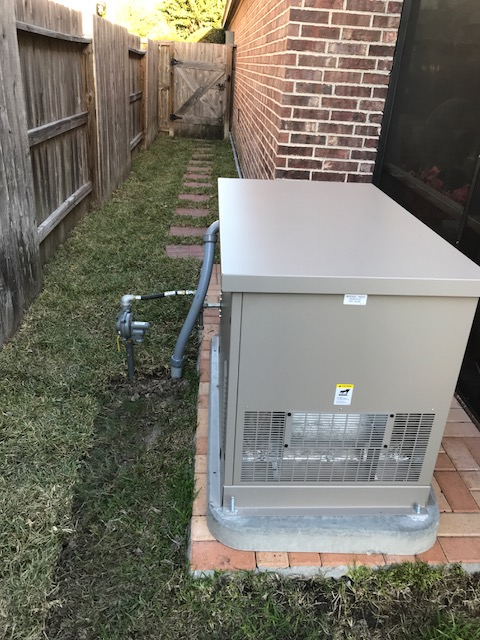Installation and start up complete for another dependable Kohler 20/18 KW standby generator.  This family is prepared for power outages.