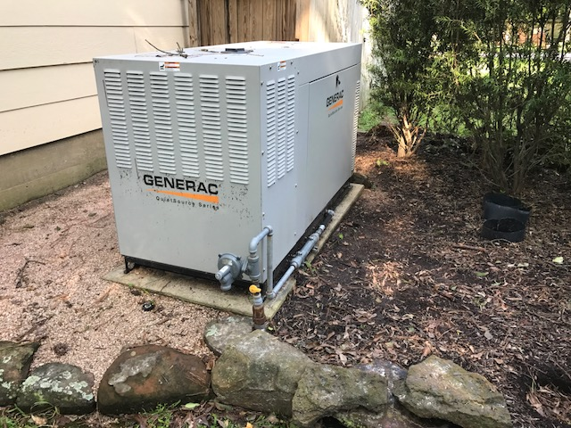 This flooded generator is being replaced today with a dependable Kohler 38KW.  Our #Harvey Replacement Program is helping a lot of neighbors!