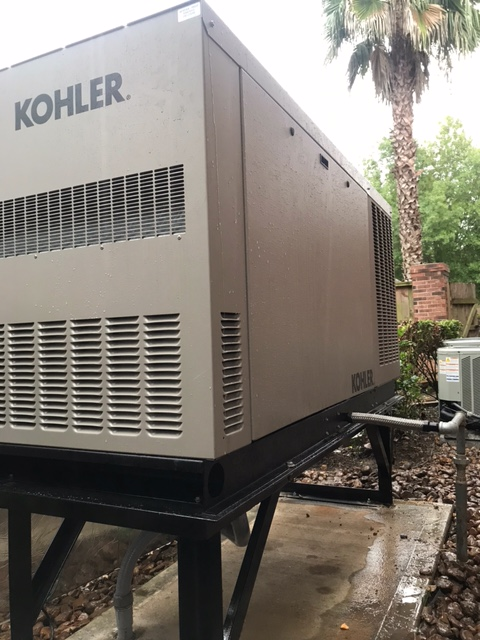 Another one of our Harvey Replacement Program installations.  Replaced another brand with a dependable Kohler 48KW .  Customer received a FREE automatic transfer switch.  Great job by our team!