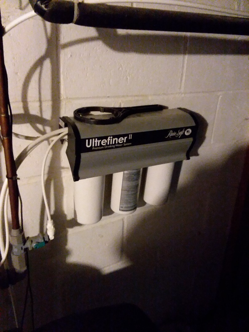 Oelwein, IA - Changed filters on UFII water purification system. Providing rainsoft customer with excellent drinking water