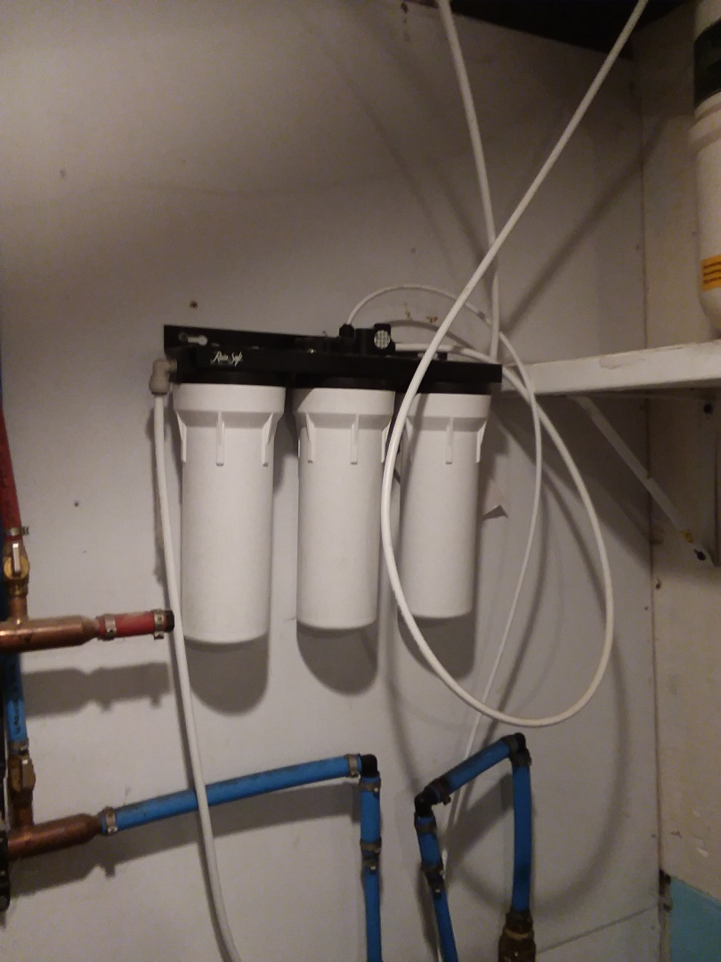 Wellsburg, IA - Changed filters on UF50 water purification system. Providing rainsoft customer with excellent water that is safe to drink and free of contaminates