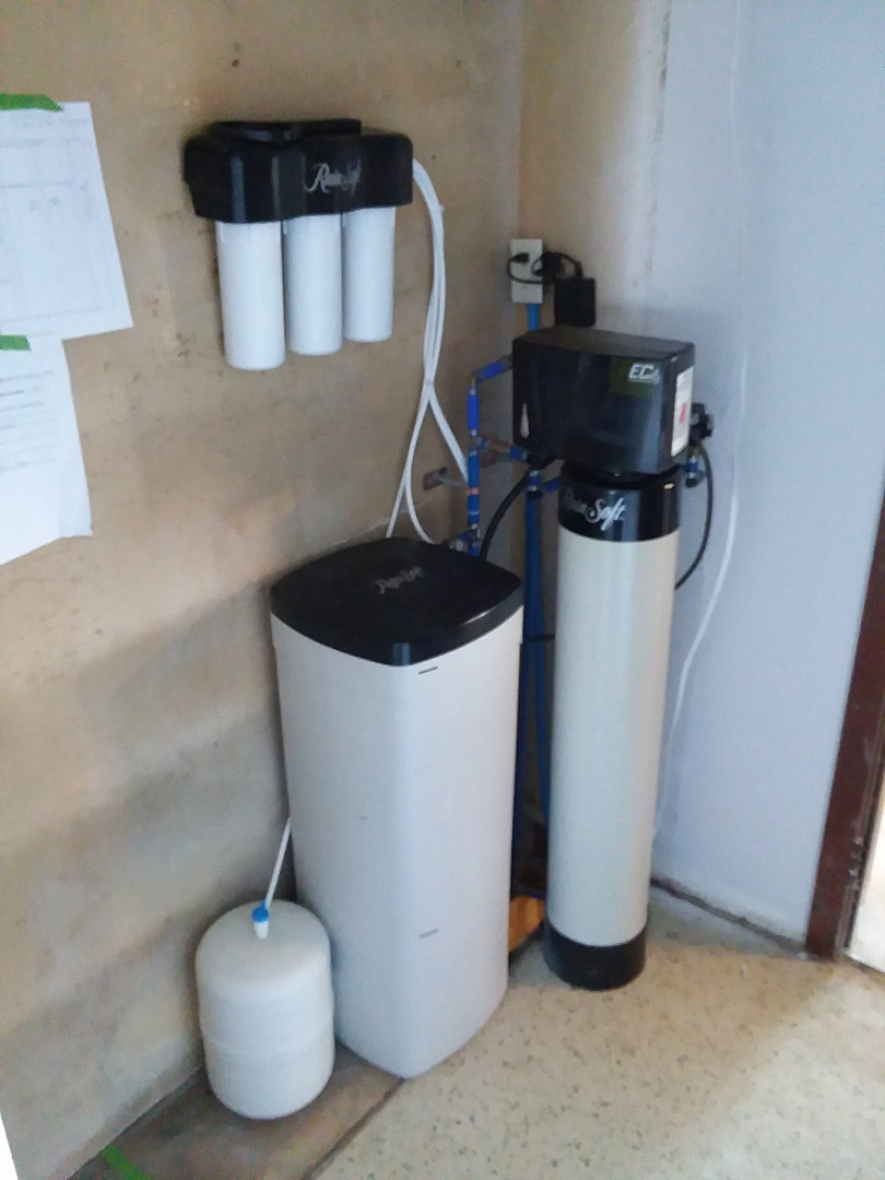 Garwin, IA - Reinstalled EC4 water treatment system and UFII water purification system for rainsoft customer that moved