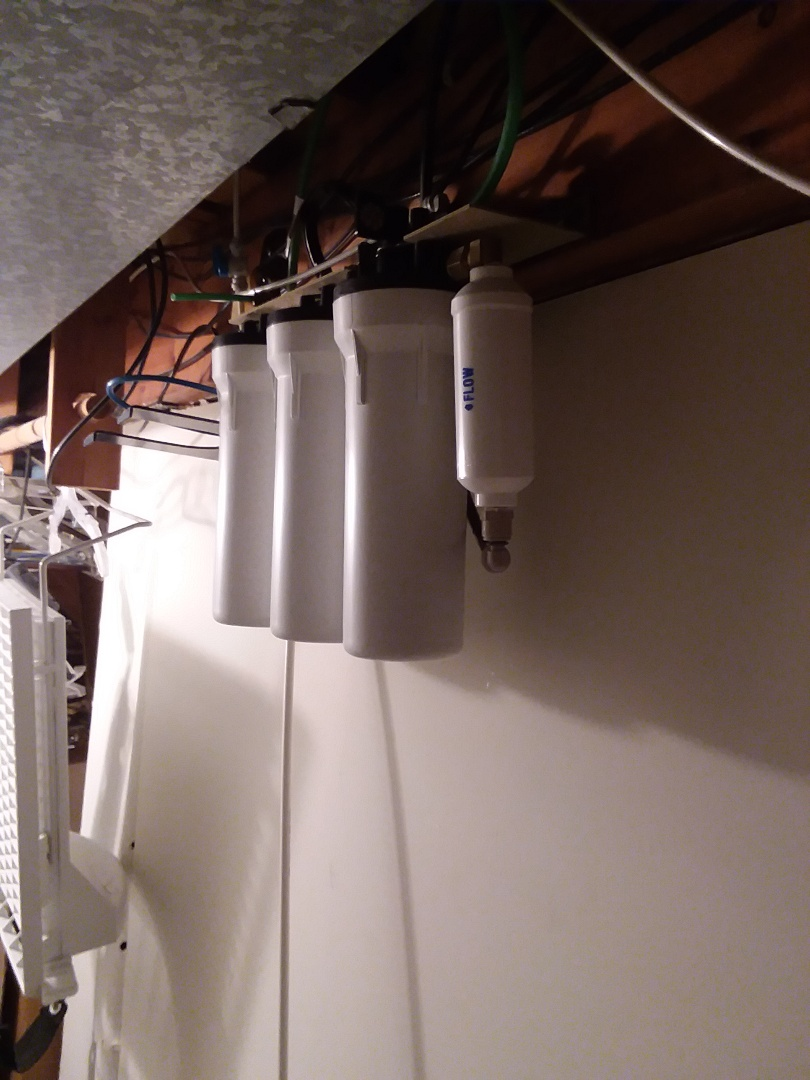 La Porte City, IA - Changed filters on 9596 water purification system. Providing rainsoft customer with excellent drinking water that is free of contaminates and safe for consumption