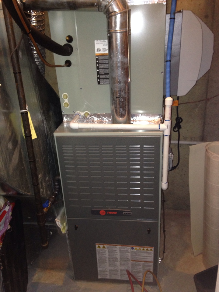 Sterling, VA - Performing routine maintenance on a Trane variable speed HVAC system in Sterling VA.